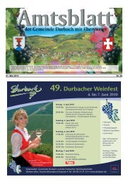 49. Durbacher Weinfest
