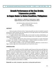 Growth Performance of the Sea Urchin, Tripneustes gratilla in Cages ...