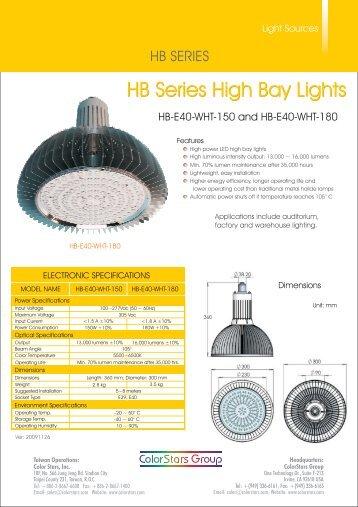 HB Series High Bay Lights - ColorStars