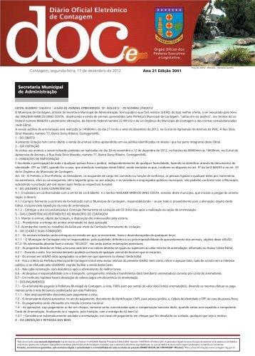 Edição3041. Segunda-Feira, 17 de dezembro de 2012 com 78 ...