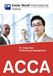 ACCA F5 Study Text Performance Management