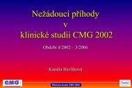Hlášení SAE ve studii CMG 2002