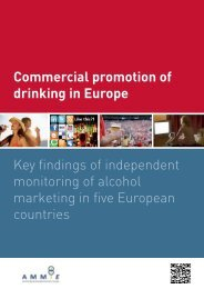 Commercial promotion of drinking in Europe Key findings of ... - Eucam