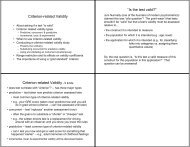 """Criterion-related Validity """"Is the test valid?"""" Criterion-related Validity ..."""
