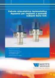 Valvola miscelatrice termostatica Aquamix per ... - WATTS industries
