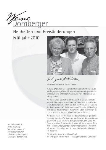 23. und 24. April 2010 - Weine Domberger