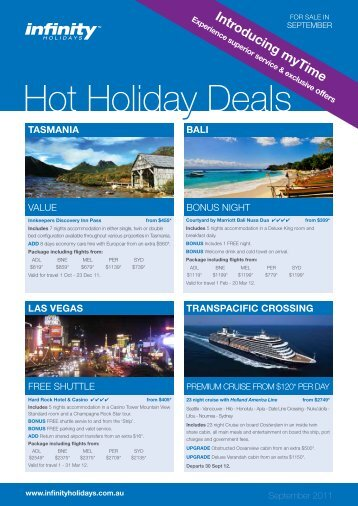 Hot Holiday Deals - Flight Centre Limited