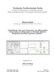 Entwicklung eines JAVA-Programm für GNSS-Auswertung - Beuth ...