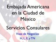 Embajada Americana en la Ciudad de México Servicios Consulares