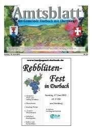 Veranstaltungsprogramm - Durbach