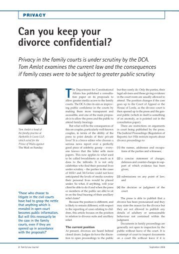 Can you keep your divorce confidential? - Families Link International