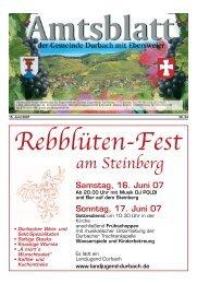 Tourist-Information/Verkehrsverein Durbach in der Zeit vom 15. bis ...