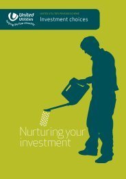 Investment Choices Booklet - About United Utilities
