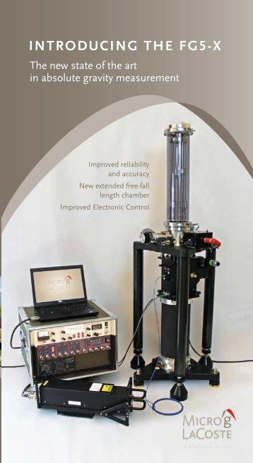 FG5-X Brochure.pdf - Micro-g LaCoste Gravity Meters