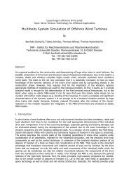 Multibody System Simulation of Offshore Wind Turbines
