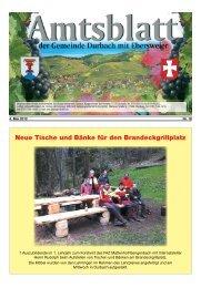 Neue Tische und Bänke für den Brandeckgrillplatz - Durbach
