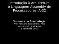 Introdução à Arquitetura e Linguagem Assembly ... - Rossano.pro.br