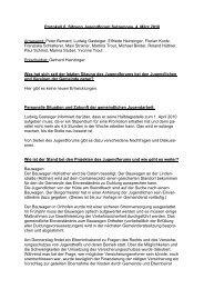 Protokoll 6. Sitzung Jugendforum Sulzemoos, 4. März 2010 Anwesend ...