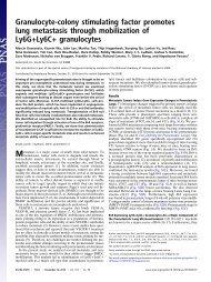 Granulocyte-colony stimulating factor promotes lung metastasis ...