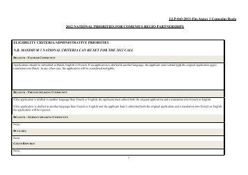2012 National priorities for Comenius Regio ... - Archimedes