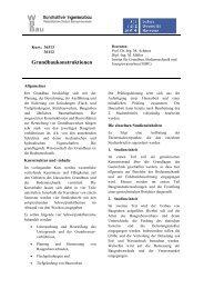 Grundbaukonstruktionen - Leibniz Universität Hannover