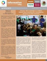 Boletín Informativo INIFAP # 31