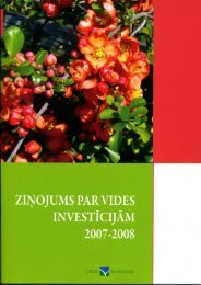 Ziņojums par vides investīcijām, 2007-2008 - Vides ministrija