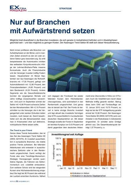 Differenziert investieren mit Branchen-ETfs! - EXtra-Magazin