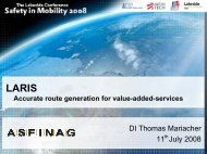 LARIS – Accurate route generation for value-added-services