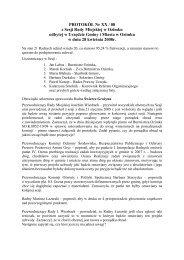 PROTOKÓŁ Nr XX / 08 z Sesji Rady Miejskiej w Ozimku odbytej w ...