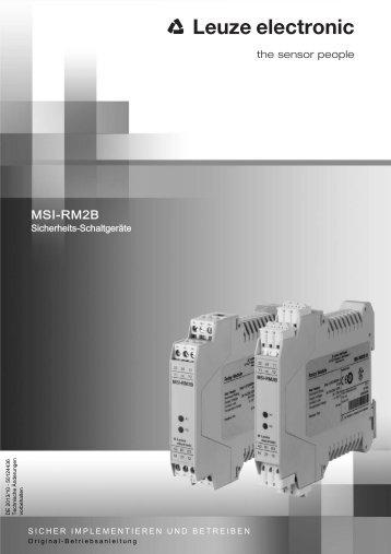 MSI-RM2B - Leuze electronic