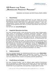 Bundesland Freistaat Preußen - Pinnow & Partner Unternehmens