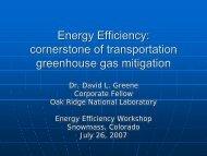 Cornerstone of Transportation Greenhouse Gas Mitigation - Precourt ...