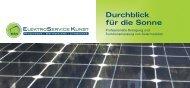 Durchblick für die Sonne - Elektro-Service Kunst