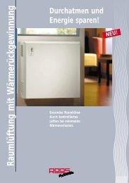 Raumlüftungsgerät Broschüre (pdf 400 kb) - Roos GmbH
