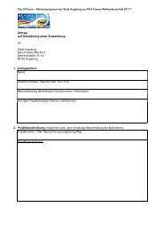 Antrag auf Gewährung einer Zuwendung - Augsburg 2011