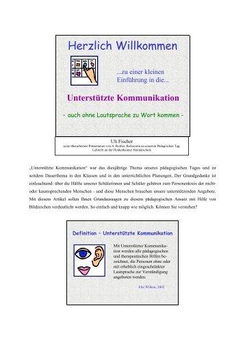 Unterstützte Kommunikation - Gustav-Werner-Schule