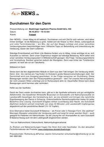 PDF :: fair-NEWS.de :: Durchatmen für den Darm
