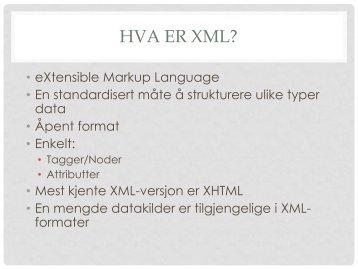 XML og databaser