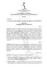 Ley para el Desarme, Control de Armas y Municiones - Asamblea ...