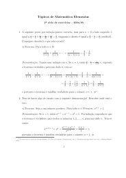 Tópicos de Matemática Elementar