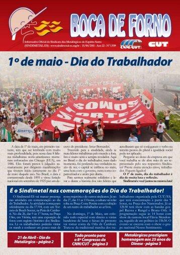 1º de maio - Dia do Trabalhador - CNM/CUT