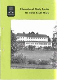 International Study Center for Rural Youth Work - 26. Internationales ...