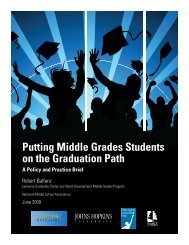 Putting Middle Grades Students on the Graduation Path: A ... - AMLE