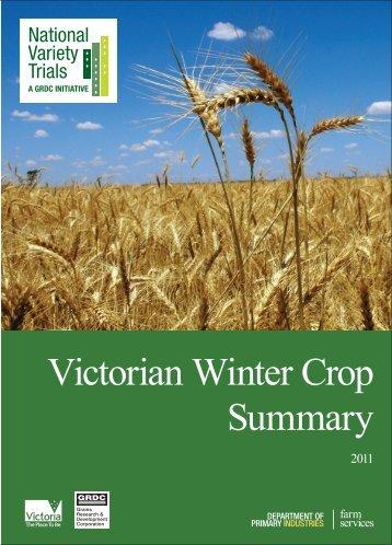 Victorian Winter Crop Summary - Grains Research & Development ...
