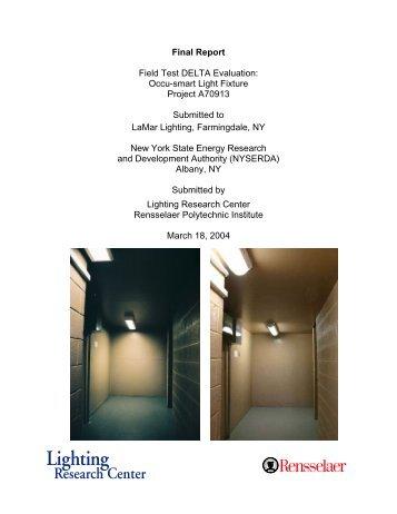 Final Report Field Test DELTA Evaluation: Occu-smart Light Fixture ...