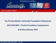 April 2013 FAUF Endowments Presentation - Florida Atlantic ...