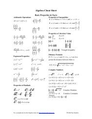 Calculus Cheat Sheet Pauls Online Math Notes 31 l'hospital's rule l'hospital's rule gives us a quick way to decide. calculus cheat sheet pauls online