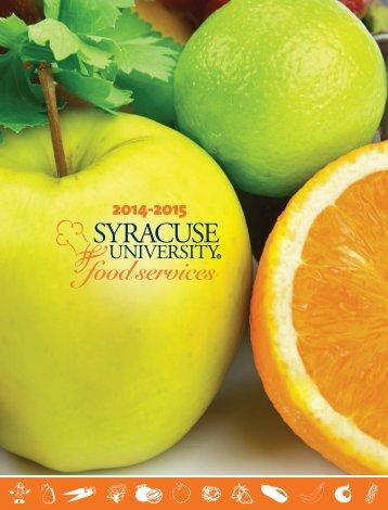 brochure (pdf) - Syracuse University Food Services