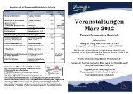 Veranstaltungen März 2012 Tourist-Information Durbach